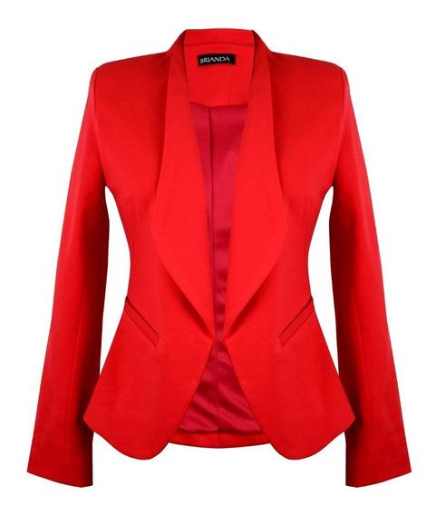 Saco Blazer Brianda Dama, Negro, Rojo ,rosa ,marino ,print.