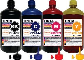 Kit Tinta 4 Litros Compatível Epson L120 L220 L210 L110 L455