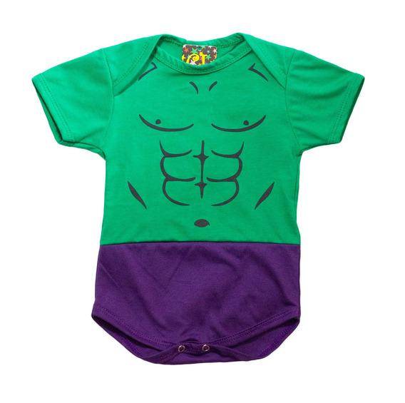 Body Baby Festa Infantil Hulk - Os Vingadores