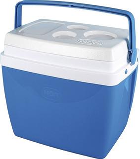 Caixa Térmica Cooler 26 Litros 35 Latas Azul Ou Vermelha Mor
