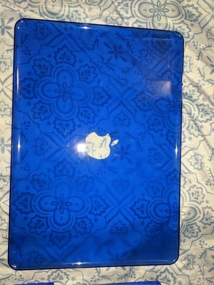 Kit Case Macbook Late 2008 Azul + Capa Maleta Azul Ótima Qu