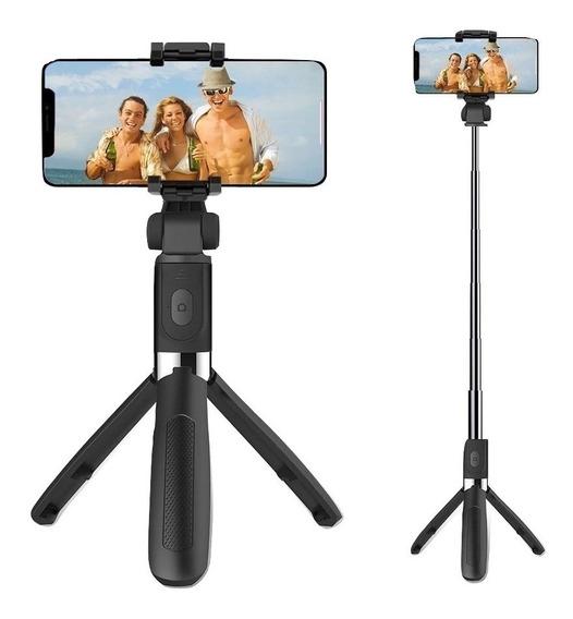 Pau Selfie E Tripé Controle Bluetooth Sem Fio iPhone Android