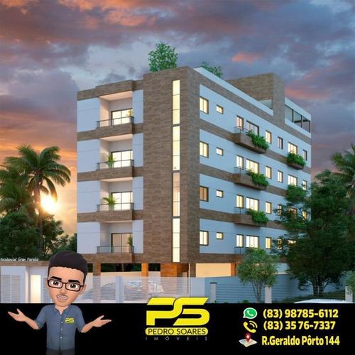 Apartamento Com 3 Dormitórios À Venda, 59 M² Por R$ 249.000,00 - Intermares - Cabedelo/pb - Ap2214