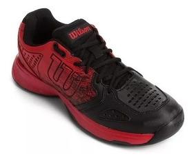 Tênis Wilson K Ultimate - Vermelho E Preto + Brinde !!
