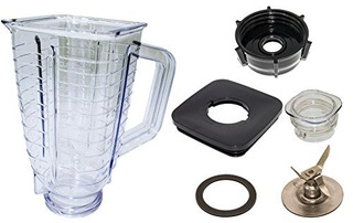 Blendin 5 Cup Square Top Blender De Plastico Jar Completo Pa