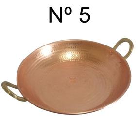 Paellera Em Cobre Nº 5 Artesanal Utilitário De Cozinha 55 Cm