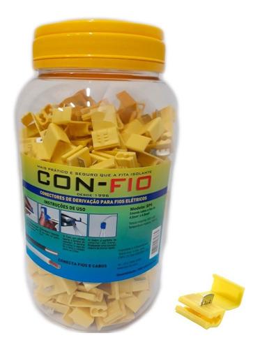 Pote C/ 250 Conector Derivação Emenda Fios Amarelo 4 A 6mm