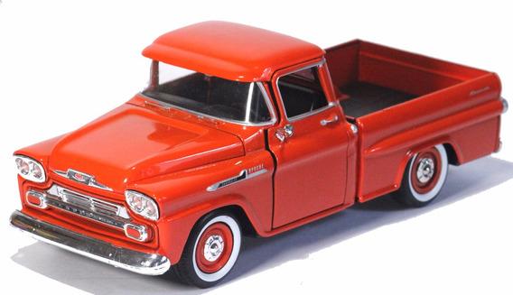 Miniatura Chevy Apache Pick-up 1959 Motormax 1/24 Laranja