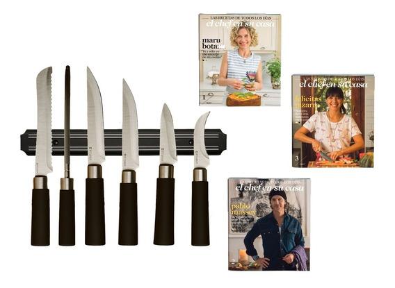 Clarín Colección Cuchillos Set 3 De 6 Cuchillos + Barral