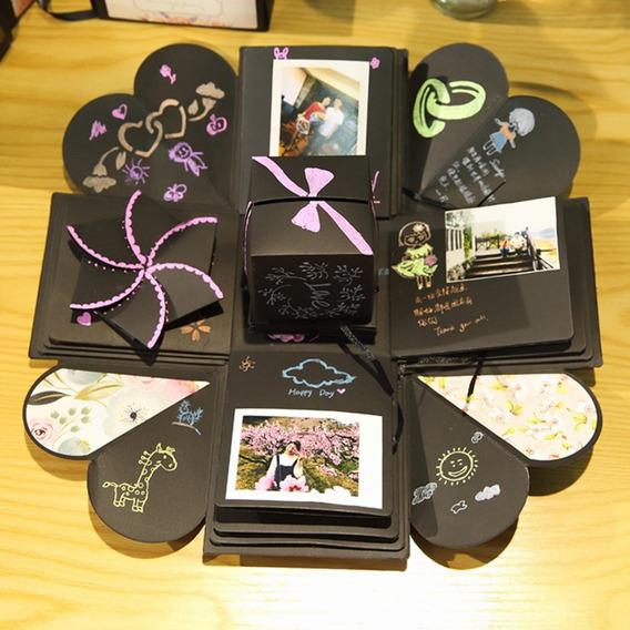 Surprise Explosion Box Diy Álbum De Fotos Para Presente De C