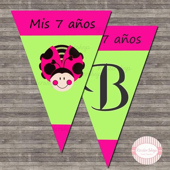 Vaquita Banderin Imprimible Personalizado