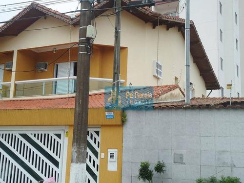 Sobrado Com 3 Dormitórios À Venda Por R$ 600.000,00 - Canto Do Forte - Praia Grande/sp - So0040