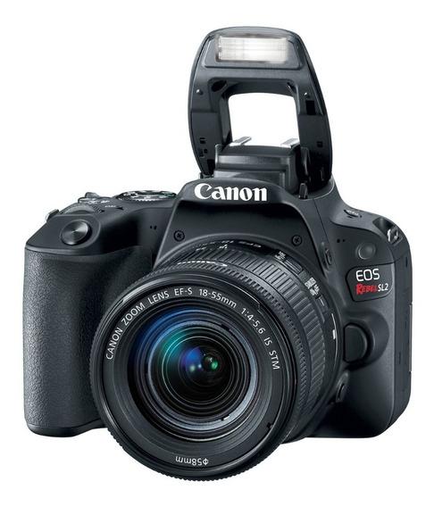 Câmera Canon Rebel Sl2 24,2mp + Tripé + Lente 300mm + Cartão