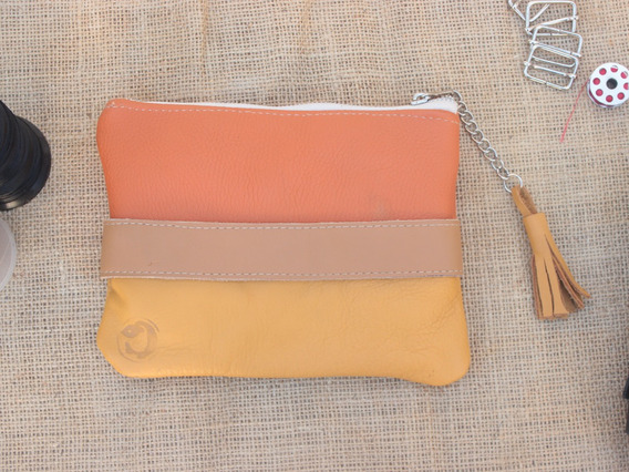 Cartera De Mano / Clutch 100% Cuero By Cordeliaok