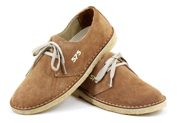 Sapato Em Solado Crepe Couro Camurça Cacareco Anos 80