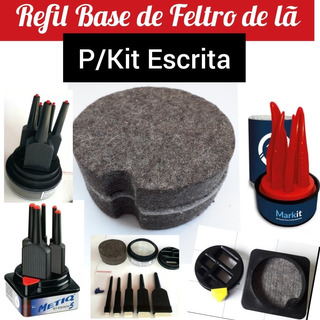 Refil Base De Feltro Para Troca/substituição Em Kit Escrita