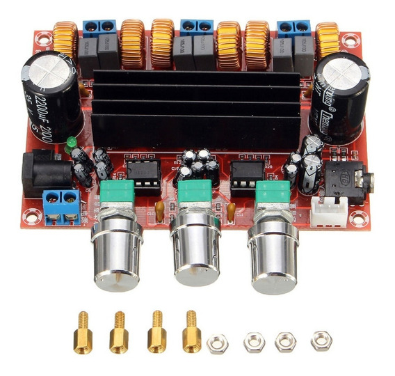 Placa Amplificador Compacto 2.1 50+50+100 200w Rms Full