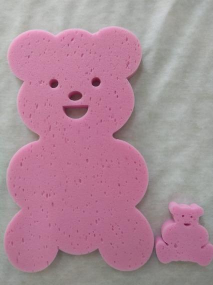 Espuma De Banheira Bebe Anti Derrapante Urso Rosa Cl+ Brinde