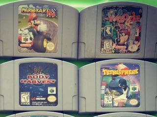 Mario Kart , Banjo Kazoie Lote 4 Juegos Nintendo 64