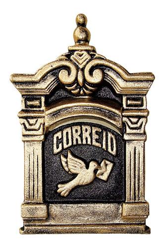 Caixa De Correios / Correspondencia  Para Embutir Muro Parede Colonial Aluminio Fundido Modelo 12 Excelente Acabamento