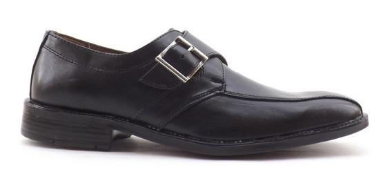 Zapato Cuero Vestir Hebilla Punta Cuadrada Liquidacion