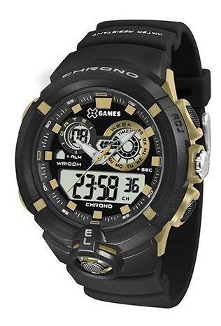 Relógio Anadigi X-games Masc. Xmppa240 Bxpx Preto/dourado