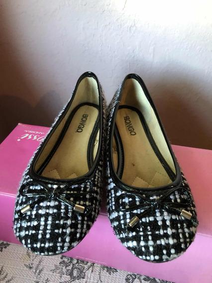 Zapatos Negros Con Blanco Talla 22 Mexicano (mx) Marca Bongo