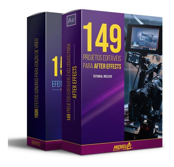 149 Projetos Editáveis Para After Effects I Full Hd + Bônus