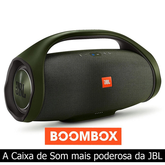 Caixa De Som Portátil Jbl Boombox 60w Rms Bluetooth - Verde