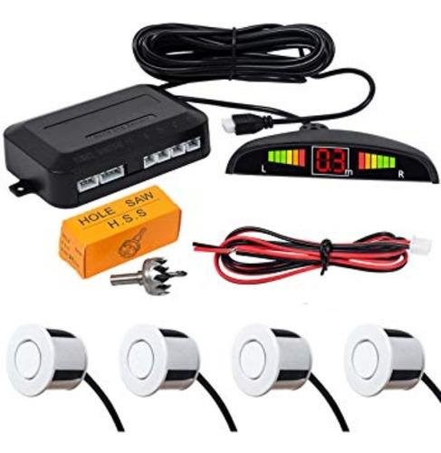 Imagen 1 de 10 de Sensor Parking Marcha Atras S/ Display C/ Sonido Blanco A50