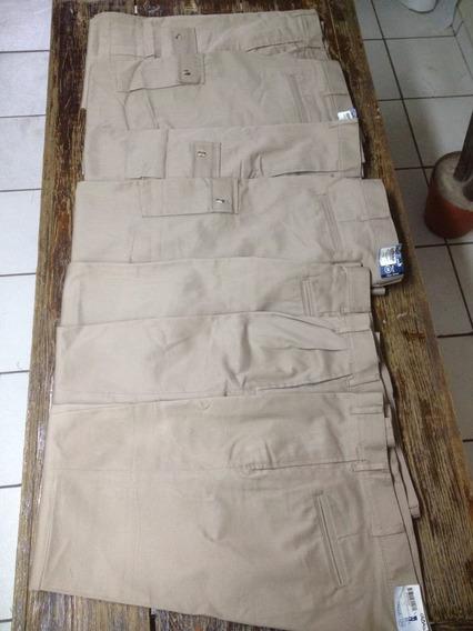 Pantalón De Trabajo Kaki Caballero (lote 7pz)