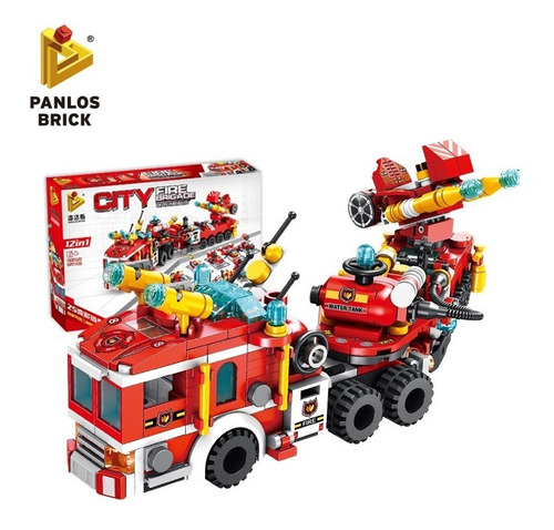 Panlos Brick Bloques Bombero 12 En 1 City Fire 1781600 E.f