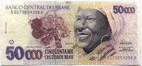 Cédula Antiga C240 Baiana 50 Mil Cruzeiros Reais 1994 Mbc