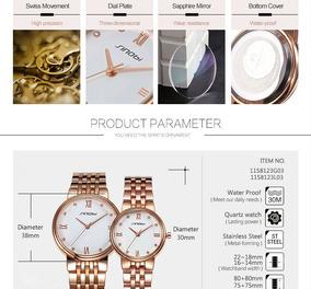 Relógio Feminino Pulseira Em Metal Dourado Luxo Moda 2018!