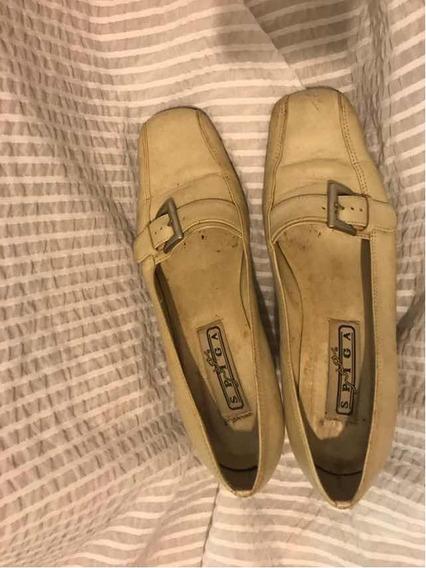 Sapato Fechado Bege Da Via Spiga 36 Inverno Salto Alto