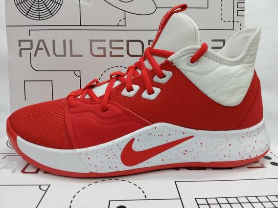 Tenis De Basquetbol Nike Pg 3 Tb University Red Originales