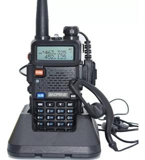 Handy Baofeng Uv5r 8w Bibanda Radio Walkie Talkie Vhf Uhf + Auricular Manos Libres
