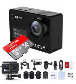 Câmera Sjcam Sj8 Pro 4k 60fps + Micro Sd Sandisk 64gb