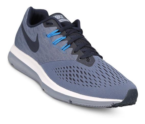 Zapatillas Nike Zoom Winflo 4 - Azul-marino - Deportivas