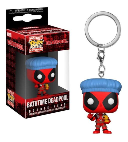 Chaveiro Funko Pop Keychain Marvel Deadpool - Bathtime Deadp