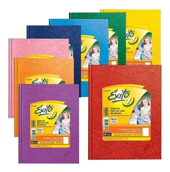 Cuadernos Tapa Dura Forrados Exito N1 48 Hojas Oferta X8u