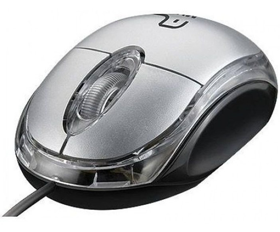 Mouse Óptico Usb Classic Prata Mo180 Multilaser 20739