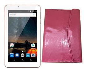 Tablet M7s Plus Rosa Multilaser Tela 7 +capa Rosa Mostruário
