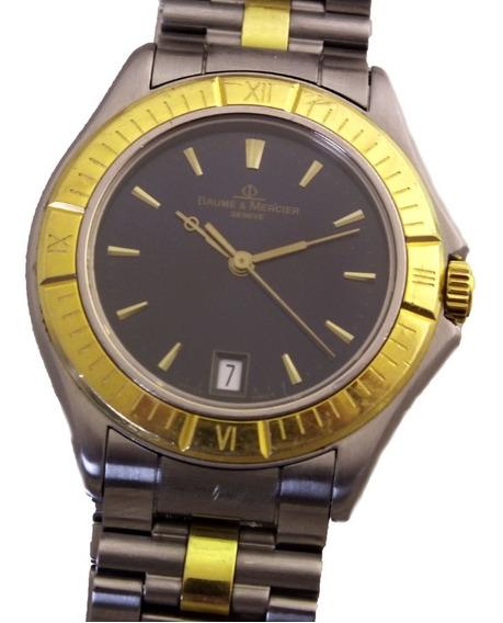 Relógio Pulso Baume & Mercier Geneve Date Aço E Ouro J21083