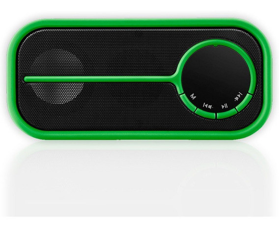 Caixa De Som Portatil Bluetooth, Sd, Fm, Usb 10w Verde Pulse