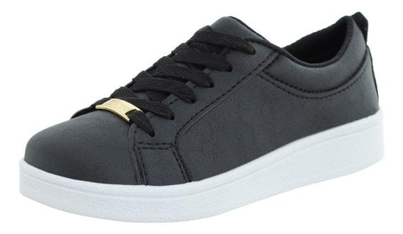 Tenis Feminino Branco Sapatenis Casual Cr Shoes Estilo Vizzano