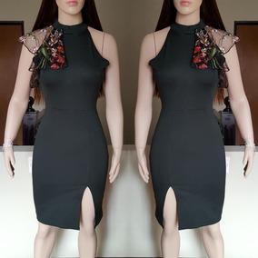 Vestido Corte Lápiz Con Detalle En Hombro By Kared Glam