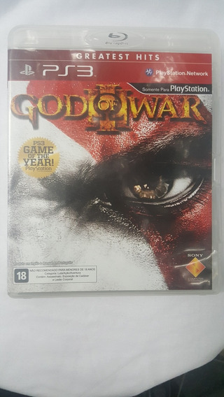 Jogo Ps3 God Of War 3 Mídia Física Original