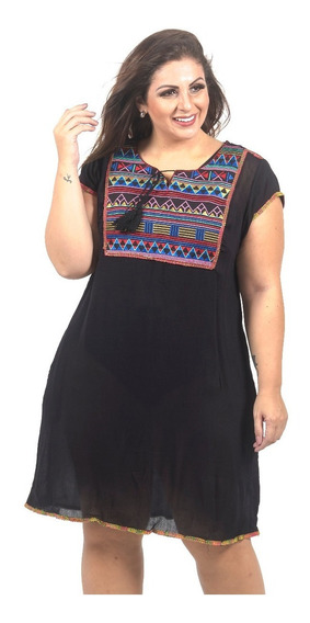 Saida De Praia Plus Canga Chic Top Moda Plus Size