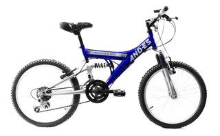Bicicleta And-es Mtb Rodado 20 Niño Doble Suspension 12 Vel